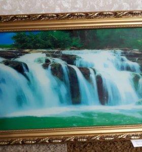 "Картина ""живой водопад"""