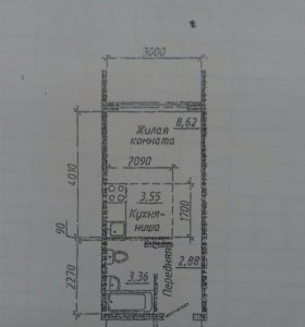 Квартира, студия, 19.6 м²