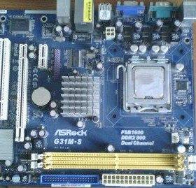 Продам Материнскую Плату ASRock G31M-S+процессор