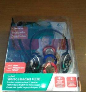Гарнитура для пк проводная Logitech h230 Stereo