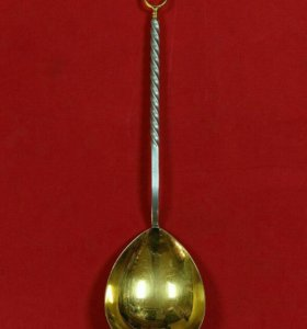 Ложка серебряная 916 пробы с позолотой