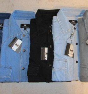 Рубашка джинсовая из Индонезии
