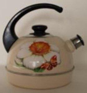 Чайник эмаль 4л со свистком
