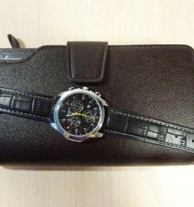 Отличный комплект клатч и часы для деловых мужчин