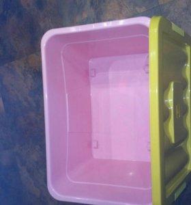 Ящик для игрушек БЫТПЛАСТ на колесах 600*400*360