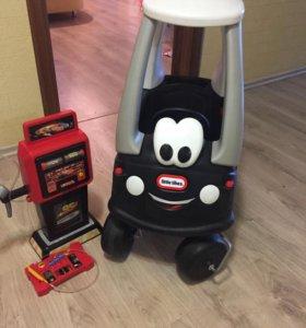Машинка Little takes +автозаправка smoby