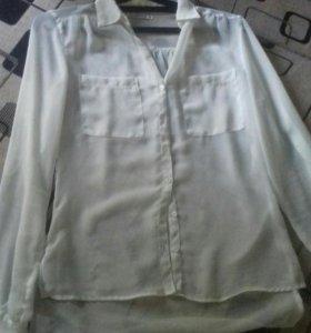 Прозрачная шифоновая блузка новая