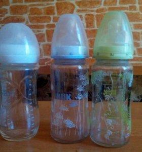 Бутылочки стеклянные