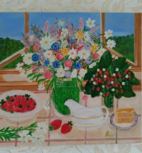 Картина маслом на холсте, 40на35