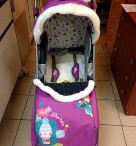 Санки коляска для девочки