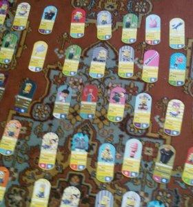 Карточки не редкие 15 рублей редкие 30