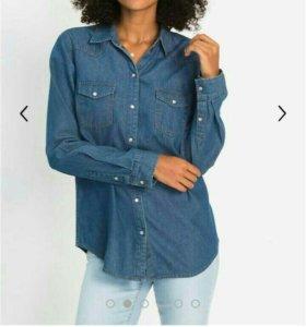 Джинсовая рубашка bonprix (новая)