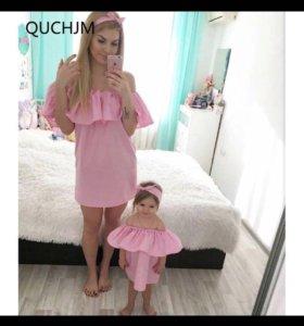 Платье мама дочь
