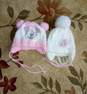 Зимние шапочки на девочку
