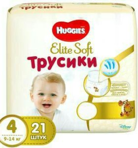 Трусики Huggies Elite Soft 3 (25 шт), 4 (21 шт)