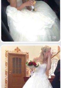 Изумительной красоты дизайнерское свадебное платье