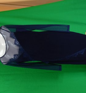 Нарядное темно синее платье
