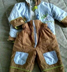 Фирменный костюм на осень, размер 80