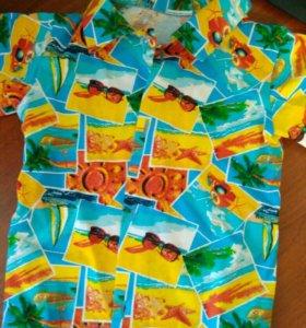 Рубашки на мальчика летние 80-86 размер