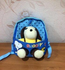 Детский рюкзак с игрушкой (новый)