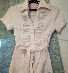 Белые блузка