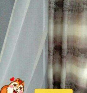 Продам шторы новые с вуалью.СРОЧНО