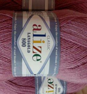 Нитки для вязания. Пряжа alize lanagold 800