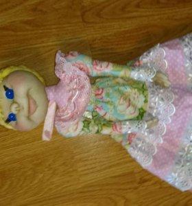 Кукла пакетница. 40 см, ручная работа.