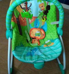 Кресло - шезлонг с вибрацией( до 18 кг!)