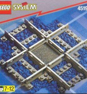 Новое Лего Lego 4519 (ж/д перекрестье) переезд