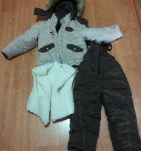 Зимний комбинезон с курткой р.98