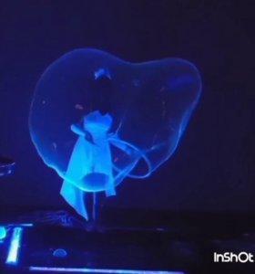 Шоу неоновых светящихся мыльных пузырей!