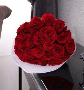 Розы Фридом (крупный бутон)