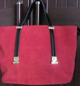 Замшевая сумка натуральная