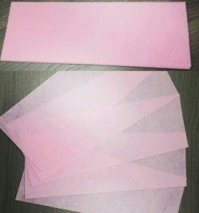 Полоски для депиляции 7х20см флизелин, 70г/м2 розо