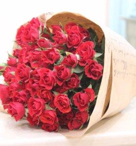 Роза кустовая (все цвета)