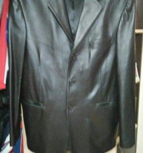 Пиджак (новый) кожаный мужской
