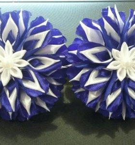 Резиночки для волос (пара) ручной работы.