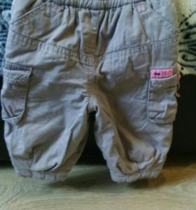 Укороченные утепленные штаны