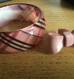 Браслет + кольцо-бантик