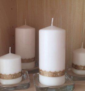 Свечи для свадьбы для декора
