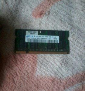 DDR2 samsung для ноутбука 2gb