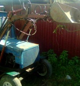 Трактор с куном самодел