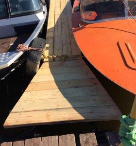 Понтон на 2 катера новый