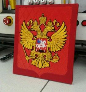 Герб России вышивка
