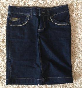 Юбка джинсовая размер s