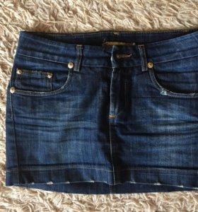Юбка джинсовая размер xs