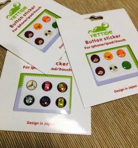 Стикеры для кнопки iPhone