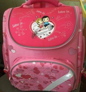 Школьный портфель для девочки ортопедический