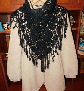 Вязаный платок новый